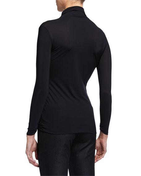 Chiara Boni La Petite Robe Lupis Long-Sleeve Turtleneck Top