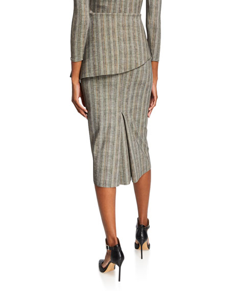 Chiara Boni La Petite Robe Delfina Striped Straight Skirt