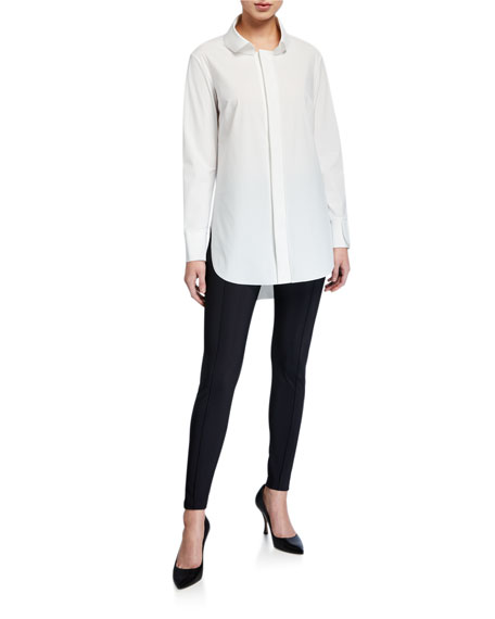 Chiara Boni La Petite Robe Selleria Pintuck Skinny Pants