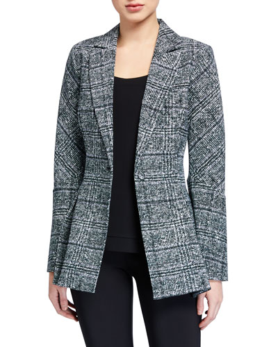 Ludmilla Printed One-Button Jacket