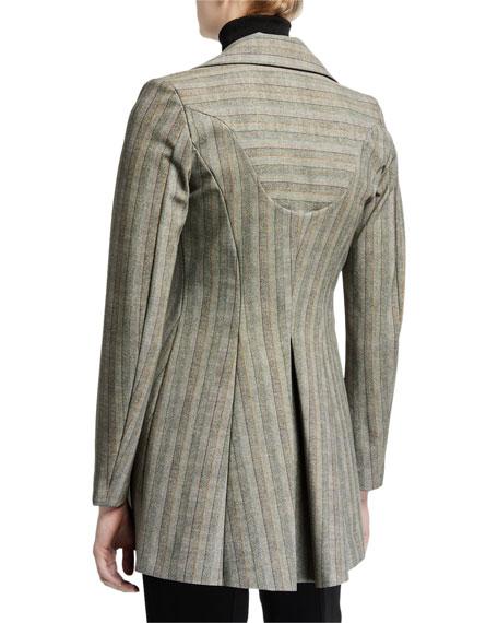 Chiara Boni La Petite Robe Michelle Striped One-Button Fit-&-Flare Jacket