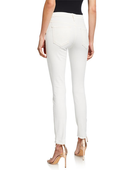 MOTHER The Pixie Mid-Rise Skinny Jeans w/ Button Fly