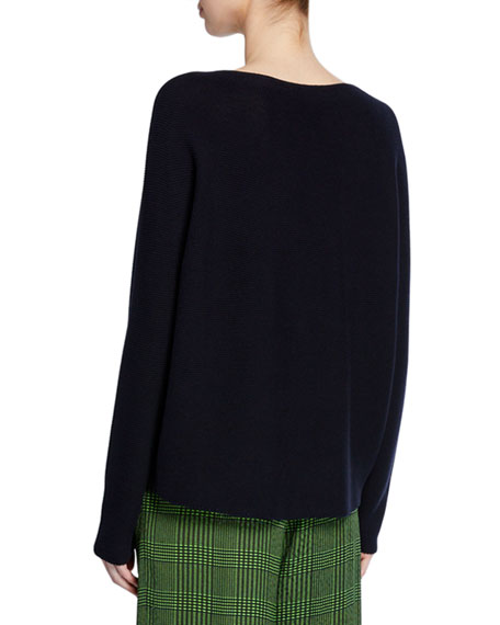 Image 2 of 2: Kumi Boat-Neck Pullover Sweater