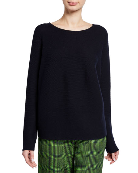 Image 1 of 2: Kumi Boat-Neck Pullover Sweater