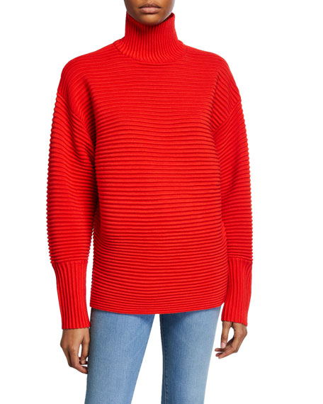 Victoria Victoria Beckham Curved-Sleeve Turtleneck Sweater