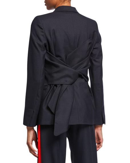Victoria Victoria Beckham Bow-Back Tailored Jacket