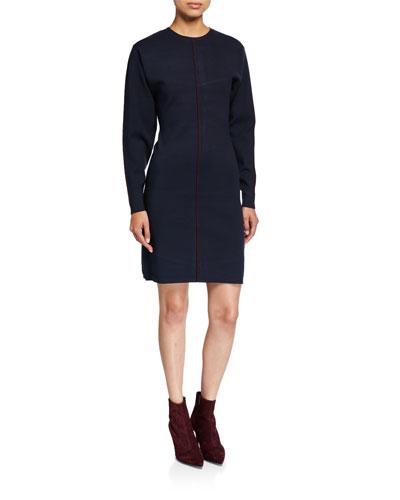 Drop-Sleeve A-Line Dress
