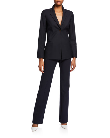 Image 3 of 3: Victoria Victoria Beckham Paneled Straight-Leg Trousers