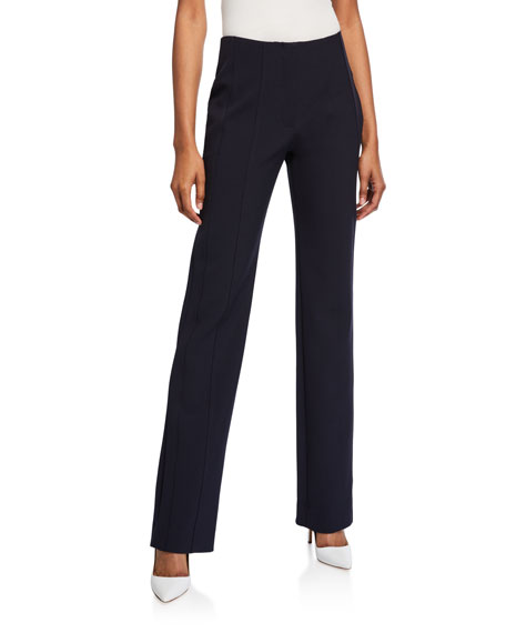 Image 1 of 3: Victoria Victoria Beckham Paneled Straight-Leg Trousers