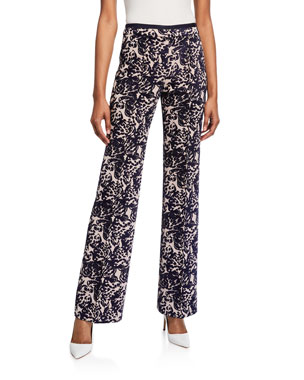 236445fb0446 Victoria Victoria Beckham Tapestry Flared Trousers