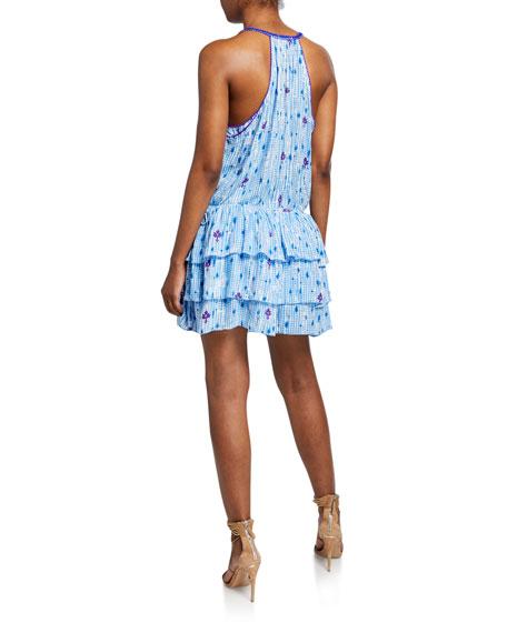 Poupette St Barth Bety Tiered Sleeveless Mini Dress