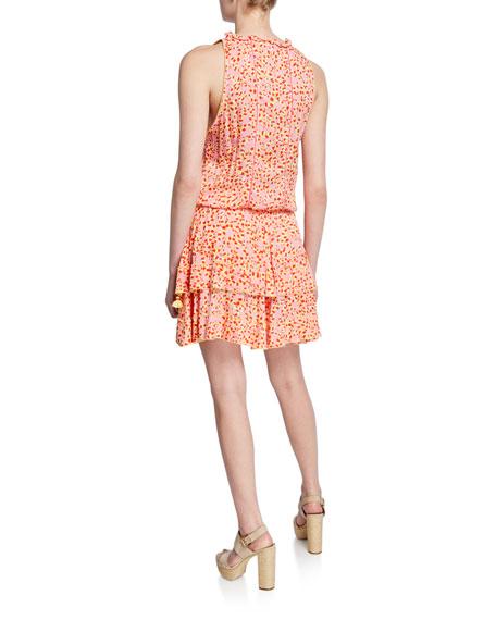 Poupette St Barth Amora Printed Sleeveless Layered Mini Dress