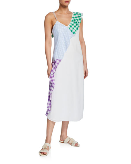 Marysia East End Gingham Ruffle Coverup Dress
