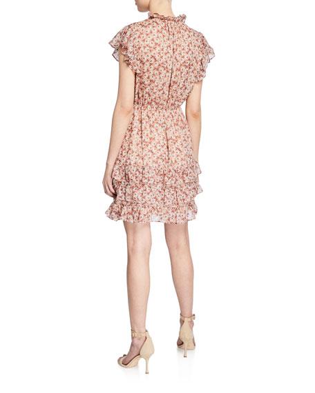 Rebecca Taylor Lucia Button-Front V-Neck Dress