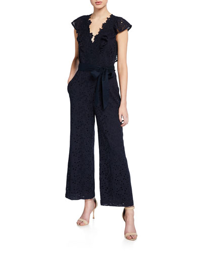 Clover Embroidered Sleeveless Jumpsuit