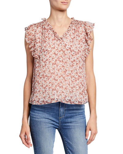 Lucia Floral V-Neck Sleeveless Top