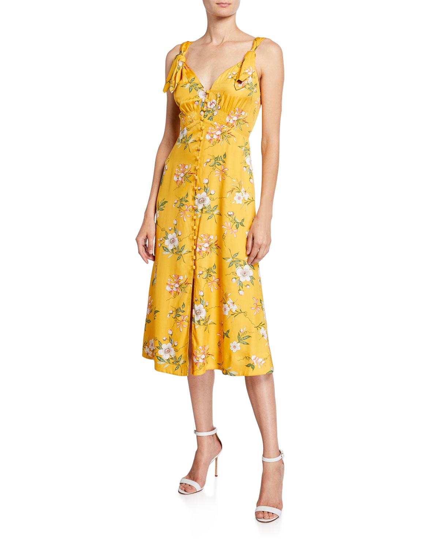 73d7dd8e4 Rebecca Taylor Lita Button-Front Tie Dress | Neiman Marcus
