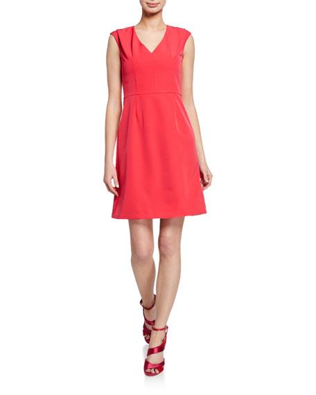 Trina Turk Fiery V-Neck Sleeveless A-Line Dress