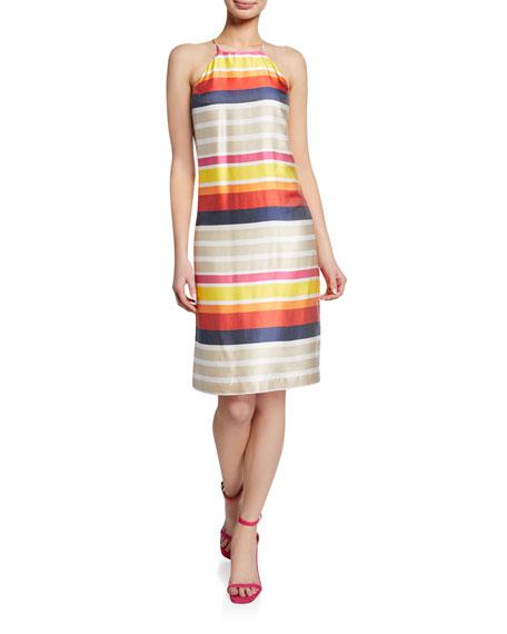 Trina Turk Vanah Striped Halter Dress