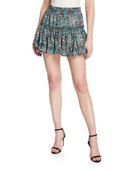 MISA Los Angeles Kahlo Printed Mini Skirt