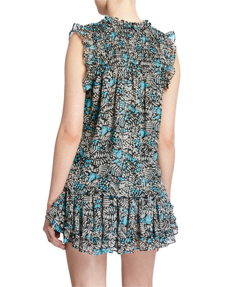 MISA Los Angeles Agot Printed Sleeveless Top