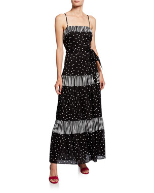 ef276d5bb21 kate spade new york daisy dot mixed print sleeveless a-line maxi dress