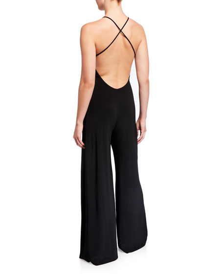 Norma Kamali Low-Back Slip Jumpsuit