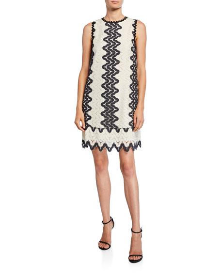 kate spade new york sand dune sleeveless lace shift dress