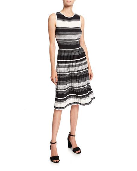 kate spade new york striped sleeveless sweater dress