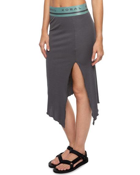 Koral Activewear Stone Asymmetrical Skirt with Split