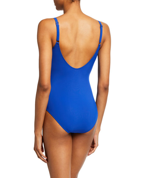 Shan Classique Ruched Underwire One-Piece Swimsuit