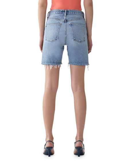 AGOLDE Rumi Mid-Length Cutoff Shorts