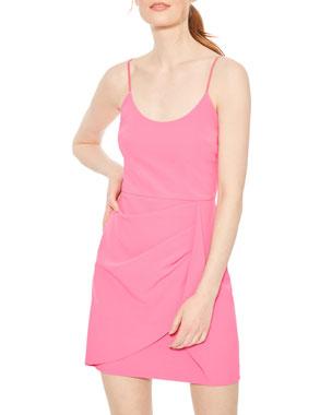9cdf9dcb45 Parker Black Myrtle Scoop-Neck Sleeveless Stretch-Crepe Mini Dress