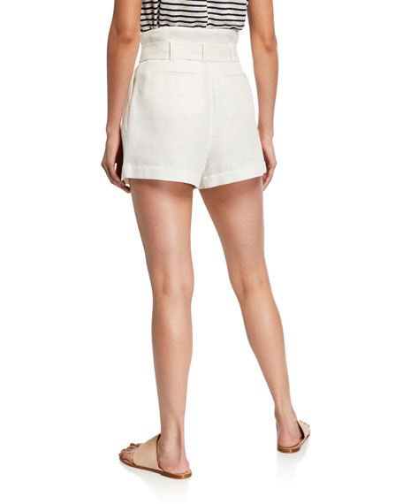 FRAME High-Rise Tie-Up Shorts