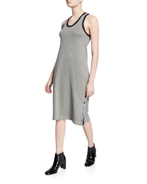 6d561b9d23b Rag   Bone Mari Houndstooth Scoop-Neck Tank Dress