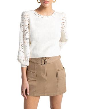 9db9aa6850b A.L.C. Sandra Crochet Cotton Knit Top