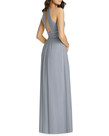 3f6ad73ecea5 Image 2 of 3: Jenny Packham Lux Chiffon Halter Bridesmaid Gown with Beaded  Trim