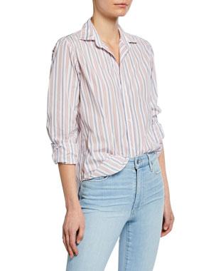 9aad3be9 Frank & Eileen Striped Button-Down Long-Sleeve Shirt