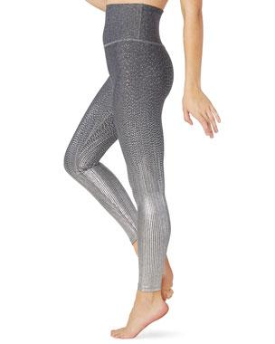 7988c343db4db Beyond Yoga Drip Dot Metallic High-Waist Midi Leggings