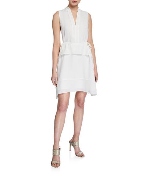 Club Monaco Raelee Sleeveless V-Neck Peplum Dress