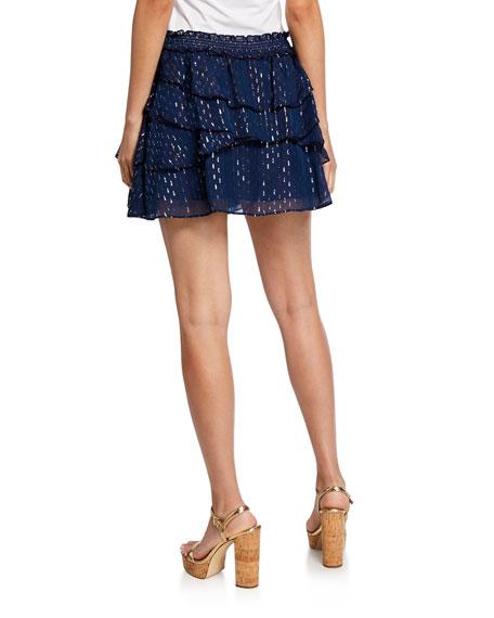 Ramy Brook Tabitha Tiered Mini Skirt