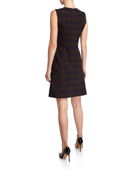 Elie Tahari Louisa Plaid Sleeveless Dress
