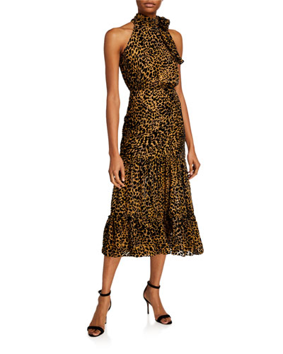 Eleanor Leopard Chiffon Dress
