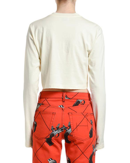 Kirin Haetae Jersey Cropped Long-Sleeve Tee