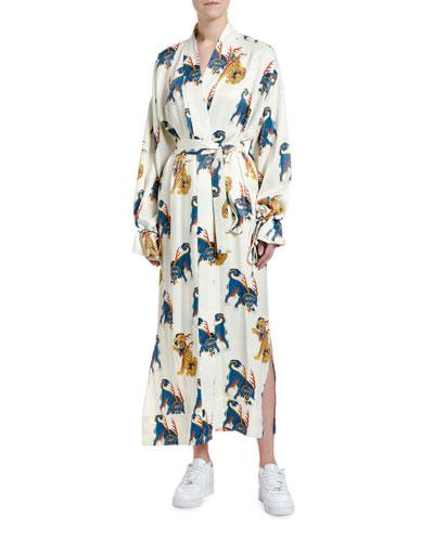 Haetae Viscose Kimono Robe