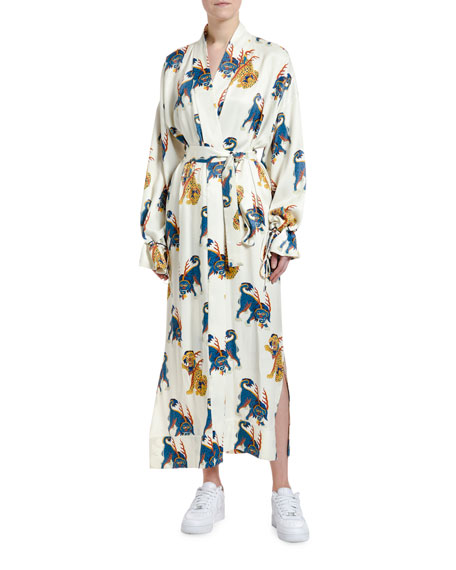 Kirin Haetae Viscose Kimono Robe