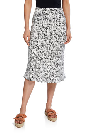 Rails London Dotted Midi Skirt