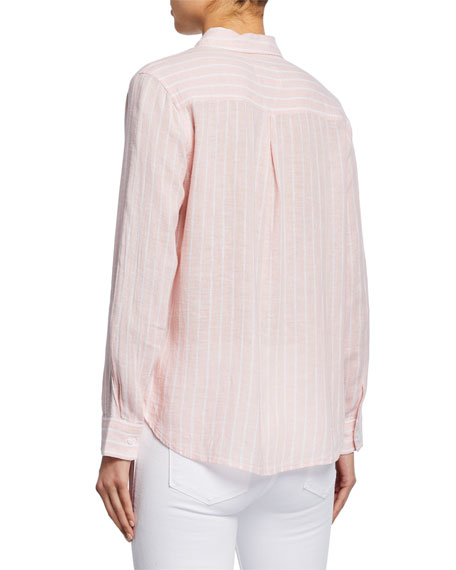 Rails Charli Striped Button Front Shirt Neiman Marcus