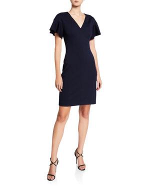 3d9c8c2b4fcb1b Elie Tahari Geraldine Short-Sleeve Dress