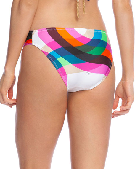 Trina Turk Kaleidoscope Shirred Hipster Bikini Bottom